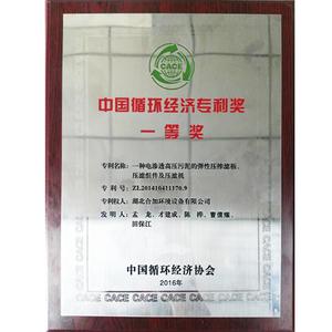 中國循環經濟專利獎一等獎